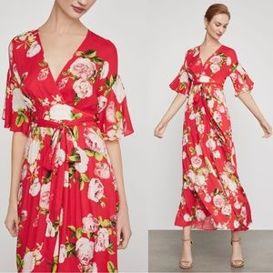 BCBGMAXAZRIA Rose Bloom Maxi Dress